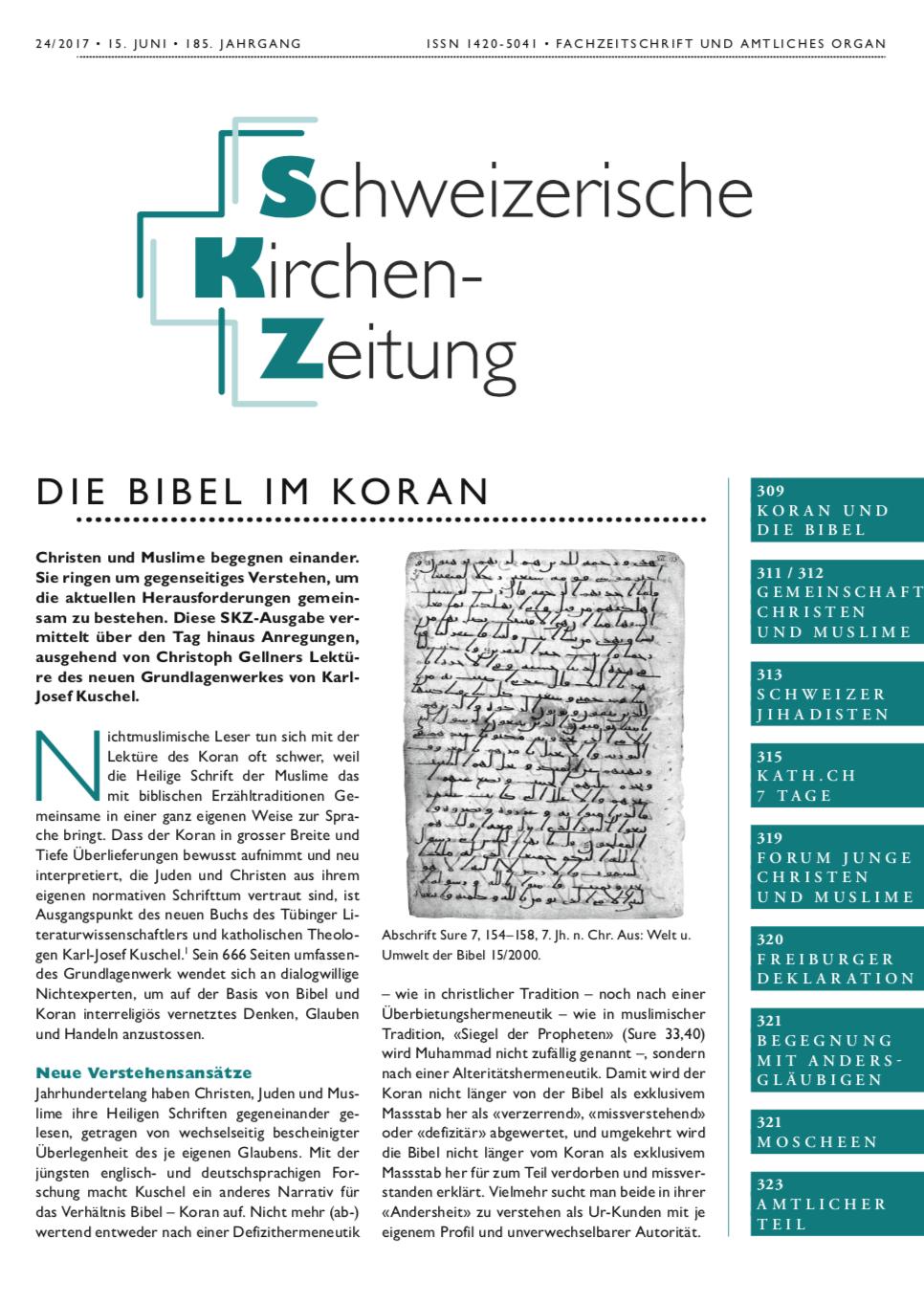 Die Bibel im Koran – Schweizerisch Kirchenzeitung